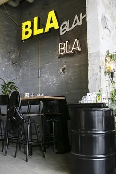 Industrial | restaurant | bar | large typo on wall | CHAPTER FRIDAY