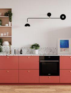 Inspirations : les projets de nos clients Kitchen Room Design, Kitchen Sets, Kitchen Colors, Interior Design Kitchen, Kitchen Living, Pastel Kitchen Decor, Teen Bedroom Designs, Küchen Design, Interior Design Inspiration