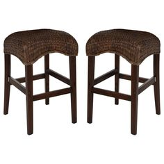 Montgomery Rattan Woven Counter height Backless Stools (Set of 2) (Brown)  sc 1 st  Pinterest & Small Square Natural Wood Conductor Step Stool ebay | furniture ... islam-shia.org