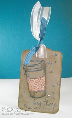 A Perfect Blend, front view of Gift Card holder, created by Angie Britt, Stampin' Up! demonstrator, Happily Ever Crafter