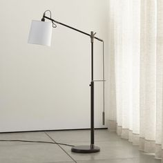 Sleek and dramatic the loden arc floor lamp base creates the sylvester adjustable floor lamp aloadofball Images