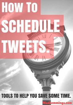 How to Schedule your Tweets on Twitter - Tweetdeck, Buffer, Hootsuite