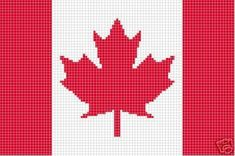 Crochet Patterns - FLAG CANADIAN afghan pattern in Crafts , Needlecrafts Yarn , Crocheting Knitting , Patterns , Afghans Free Crochet Bag, Diy Crochet And Knitting, Crochet Shell Stitch, Crochet Gifts, Easy Crochet, Crochet Afghans, Crochet Borders, Afghan Crochet Patterns, Crochet Edgings