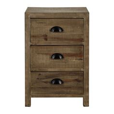 Wooden bedside table with drawer W 40cm - Woodpecker