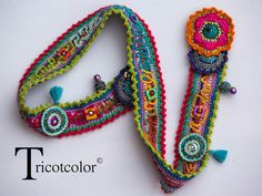 Etsy - Shop for handmade, vintage, custom, and unique gifts for everyone Bracelet Crochet, Crochet Belt, Crochet Cross, Freeform Crochet, Crochet Granny, Cute Crochet, Knit Crochet, Crochet Jewelry Patterns, Crochet Accessories