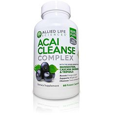 ACAI BERRY CLEANSE Colon Cleansing Detox Cleanse. Potent Acai Berry, TRIPHALA and MANGOSTEEN Capsules. An Intestinal Health, Liver, Colon and Pancreas Detox Cleanse Supplement. 60 pills ** You can find out more details at the link of the image.