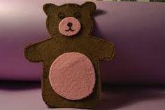 Resultado de imagen de como hacer un titere de oso con fieltro