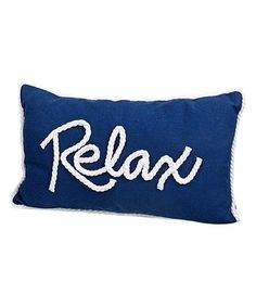 Loving this 'Relax' Rope Throw Pillow on #zulily! #zulilyfinds