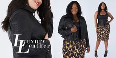 Leather Plus Size jacket and leather corset by Anna Scholz