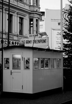 Checkpoint Charlie.  This place was very intimidating.  When you crossed over to the East side you could sense a loss of freedom.  Never felt that way before or after.  Thank God the walls are down. 1976