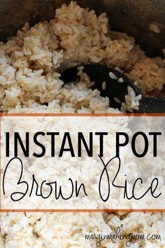 Pressure cooker steamed brown rice recipe instant pot brown i love how quick and easy it is to make brown rice in the instant pot ccuart Images