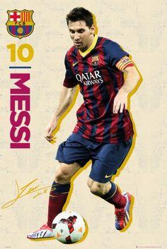 Plakat sportowy z piłkarzem Barcelona Leo Messi 13 14 Lionel Messi Barcelona, Barcelona Football, Barca Real, Soccer Room, Soccer Poster, Messi Poster, Messi Vs, Argentina National Team, Soccer Motivation