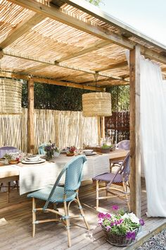 12 Pergola Patio Ideas that are perfect for garden lovers! Pergola Attached To House, Pergola With Roof, Wooden Pergola, Patio Roof, Pergola Plans, Pergola Kits, Pergola Ideas, Steel Pergola, White Pergola