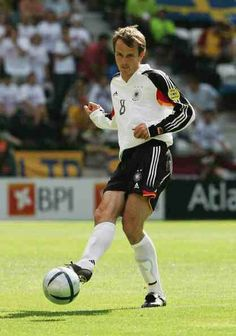 Dietmar Hamann of Germany in action at Euro 2004.
