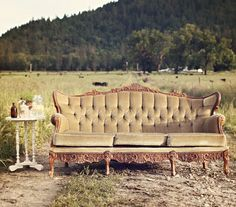 I am looking for a vintage sofa like this one to place in the garden for the cocktail hour (at my wedding reception).