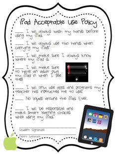 3rd Grade Gridiron: Techie Tuesday: Policies and Procedures!