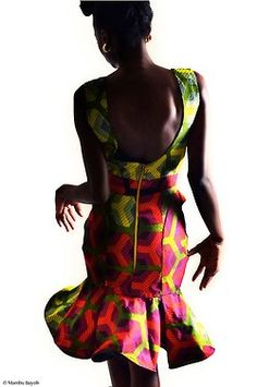 Want to know what the front of this looks like!  /  African fashion #waxprint