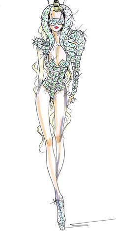 fashion sketches | Diamond of Doom: Armani Fashion Sketches