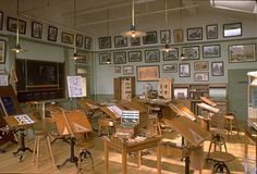 William R. Robertson ~ it is a scale model of an Architects Classroom circa 1900
