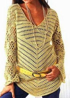 Häkelmuster Fundgrube: Tunikas langärmelig Crocget tunic pattern