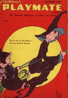 Vintage Halloween Magazine ~ Children's Playmate Magazine ©October, 1960