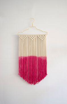 Macrame wall hanging dip dye modern macrame wall by MangoAndMore