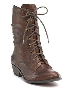 Guess Lace Up Boots // Of course they're no longer available. Any leads on flat-ish, non-combat, lace-up boots are welcome!