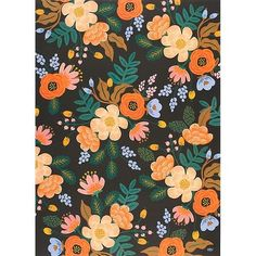 A painterly floral design gets a modern makeover with edgy accents of rich black and cobalt colors. A lovely design from Rifle Paper Co. that makes for elegant gift wrap. Printed in the USA.<br><br>Si