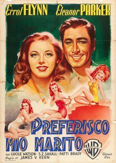 """Movie Posters:Drama, Escape Me Never (Warner Brothers, 1948). Italian 2 - Foglio (39"""" X55"""") Luigi Martinati Art.. ... Image #1"""