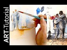 Aquarell auf Leinwand mit Aquarellstiften von Faber-Castell. Tutorial von zAcheR-fineT - YouTube