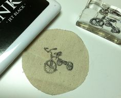 creative ideas with drop cloth with a rubber stamp and permanent ink