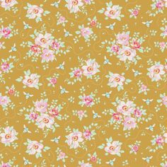 Bumblebee by Tilda Fabrics cotton, this fabric is suitable for home decor, crafts, patchwork and dressmaking. As Fabric HQ Aylesbury Yellow Crafts, Dressmaking Fabric, Fantasy Hair, Fabric Design, Cotton Fabric, Quilts, Crochet, Floral, Fabrics