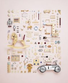 I have become a BIG fan of Canadian Photographer, Todd McLellan, since I discovered him, particularly his deconstruction pieces such as the rocking horse shown below. He has recently brought out a… Things Organized Neatly, Foto Baby, Idee Diy, Still Life Photography, Kids Toys, Creations, Childhood, Design Inspiration, Nursery