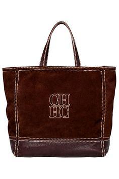 Carolina Herrera Dark Brown Suede Tote Bag FW-2012-13 #veryDayBag Ch Carolina Herrera, Suede Tote Bag, Designer Shoes, Designer Bags, Brown Suede, Dark Brown, Summer Handbags, Goodie Bags, All Brands