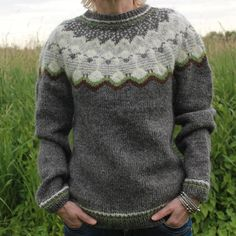 While in Iceland you have not found YOUR Lopapeysa? This one might just be the right one for you. Handknitted sweater made of 100 % Icelandic wool. Made out of Lett-Lopi it has a great touch and warm feeling to it. Due to the Icelandic wool used, the properties of this item are fabulous: