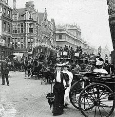 Piccadilly, Londres c Victorian London, Vintage London, Old London, Victorian Life, Victorian History, Tudor History, London City, Vintage Pictures, Old Pictures
