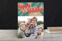 Happy Retro Script Christmas Photo Cards by Kristie Kern at minted.com