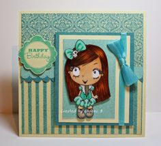 #handmade #birthday #card featuring image from @thegreetingfarm, sentiment from @CTMH, papers from @graphic45