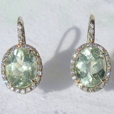 10cts Green Amethyst Diamonds and 18K White Pink or by gemson47, $1299.00