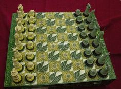 quilled chess set