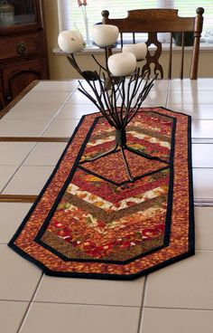 Handcrafted Quilted Fall Table Runner