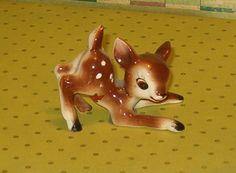 Vintage Baby Deer Fawn Figurine,