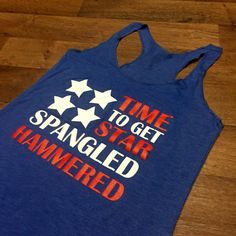 Women's Tank Top Time To Get Star Spangled by ShirtMarket on Etsy