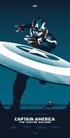 Captain America: The Winter Soldier Poster - Rico Jr. Marvel Comics, Marvel Fan, Marvel Heroes, Marvel Avengers, Winter Soldier, Capitan America Wallpaper, Marvel Universe, Logo Super Heros, Poster Minimalista