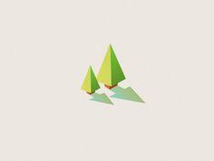 Lowpoly Trees by Eugene Woronyuk