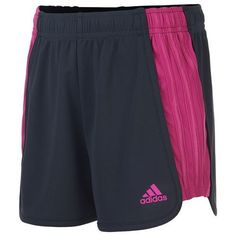 Adidas Girls' Block Mesh Short (Grey Dark, Size Small) - Girl's Apparel, Girl's Athletic Shorts at Academy Sports