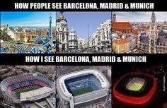 Jak inni ludzie postrzegają te miasta • Jak my widzimy Barcelonę, Madryt i Monachium czyli zabytki vs stadiony • Wejdź i zobacz >> #football #soccer #sports #pilkanozna