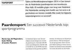 Carolien Munsters, docent Fontys Sporthogeschool, voor volledig artikel zie Sportgericht nr. 2 jrg.69 2015