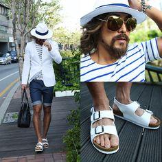 Gucci Sunglasses, Birkenstock Shoes, By The R Blazer