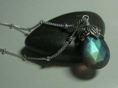 Labradorite - Sterling Silver Necklace
